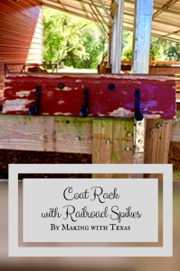 CANVA Coat Rack with Railroad Spikes