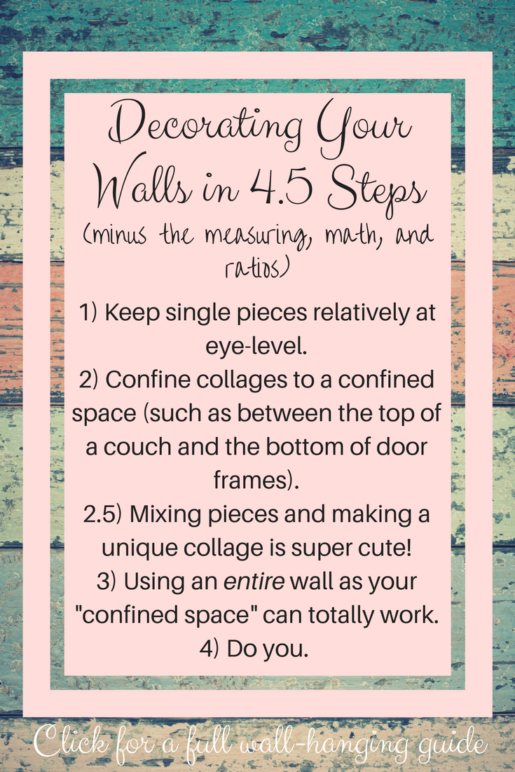 Decorating Your Walls in 4.5 Steps
